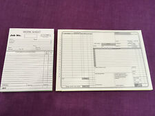 USED CAR GARAGE REPAIR INVOICE PAD X 5 AND GARAGE WORKSHOP REPAIR JOB CARDS X 5
