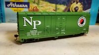 Athean NORTHERN PACIFIC 40' box car HO scale rtr series metal wheels boxcar