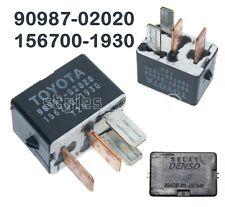 90987-02020 Genuine Toyota Lexus 4-Pin Black Multi-Use Relay Denso 156700-1930