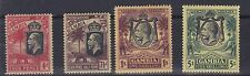 GAMBIA   1922 - 29   S G  118 - 121  SET OF FOUR TO FIVE SHILLING  L M H