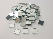 500 pieces, Silver Glass Mirror Tiles, 15 x 15 mm, 3 mm thick. Art&Craft,