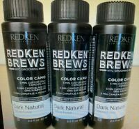 Redken Brews 5 Minute Color Camo DARK NATURAL 2oz (3 PACK) FAST FREE SHIPPING!