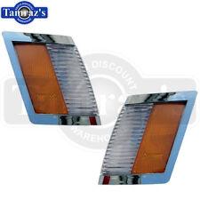 84-87 Regal Headlight Bezel CHROME SIDE MARKER LIGHT Parking Turn Lamp Lens - PR