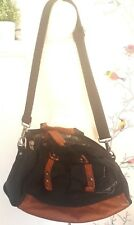 OAKLEY Black Brown Small Travel Duffel Bag with storage Side Pockets Eagle zip
