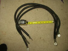 Three 3' Belden 1 Awg Black Welding/Battery Copper Cables with terminals used