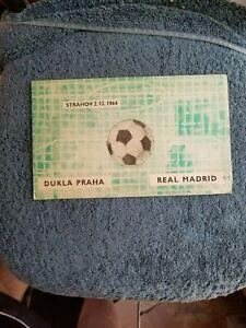 1964 DUKLA PRAHA VS REAL MADRID OFFICIAL SOCCER PROGRAM               GROBEE1957