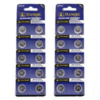 20 x 1.55V AG13 357A LR44W Alkaline Button Coin Cells Watch Battery