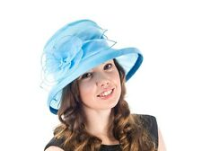 ** SALE ** NEW BLUE LADIES ORGANZA WEDDING HAT ZOE