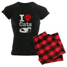 CafePress I Heart Cats Women's Comfortable PJ Sleepwear (19863309)