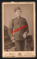 CDV-Vintage Photo Portrait-militär-Husar-Säbel-offizier-L.Weise-Berlin