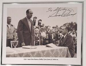 "Sam Snead Autographed 16x12"" Photo W/Bobby Jones Masters Augusta National Golf"