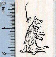 Halloween Cat Rubber Stamp, with Spider H35117 WM