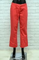Pantalone Donna FRED PERRY Taglia 46 Jeans Pants Woman Cotone Gamba Dritta Rosso