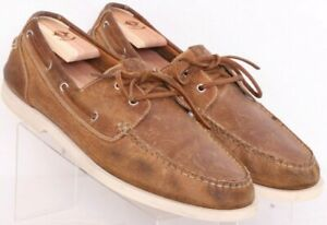 Cole Haan C11412 Air Yacht Club Brown Leather Boat Loafer Shoe Men's US 12M