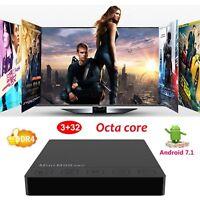 3+32GB DDR4 Android 7.1 Nougat Smart TV BOX Amlogic S912 Octa Core Mini M8S PRO