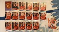 TOPPS UEFA CHAMPIONS LEAGUE 2020/21 SET OF ALL 18 MANCHESTER UNITED STICKERS