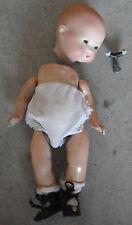 "Antique Armand Marseille AM 341 4/0 Bisque Composition Baby Girl Doll 9"" Tall"