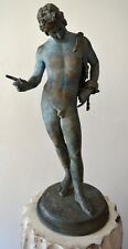 Antique Grand Tour Bronze Statue Of Narcissus