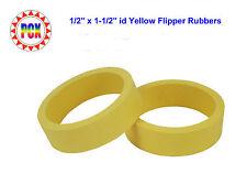 """Two Standard Size 1/2"""" x 1-1/2"""" id Yellow Flipper Rubbers (for 3"""" flipper bats)"""