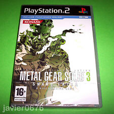 METAL GEAR SOLID 3 SNAKE EATER NUEVO Y PRECINTADO PAL ESPAÑA PLAYSTATION 2 PS2