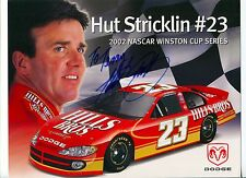 Hut Stricklin NASCAR Driver Signed Autograph Photo