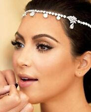 Women Crystal Look Boho Bling Wedding Party Bride bridal shiny Hair Head band