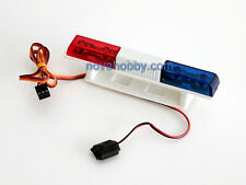 RC 1/10 Police Emergency Vehicle Flashing Light LED Blue Red 360Degree Rotation