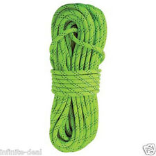 """New England KMIII 1/2"""" x 150' Static Climbing Rescue Caving Rope Polyester Green"""