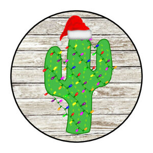 Christmas Holiday stickers, labels, southwestern, cactus, envelope seals, tags