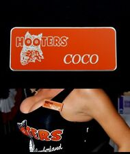 Hooters Girl Uniform Coco Name Tag  Pin Badge Lingerie Costume Accessory