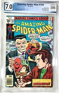 THE AMAZING SPIDER-MAN Comic # 169 - 1977 Marvel Comics Graded PGX 7.0 Len Wein