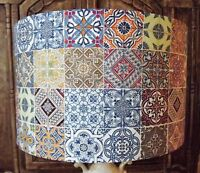 Moroccan Tiles Lampshade Shabby Chic lamp shade Victorian multi FREE GIFT