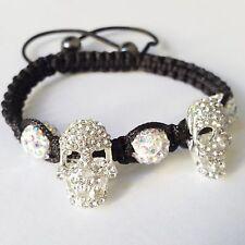 Nick Jordan Armband Totenkopf silber Bracelet Kristall Unisex Crystal NEU OVP