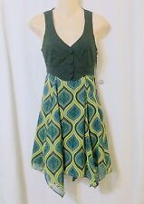 NWT Bijou Bijou  Handkerchief Hem Sleeveless Dress Size XS