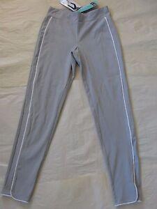 NWT $44 Hue Women Piped Polished Twill Skimmer Leggings Sz M Coin U16650