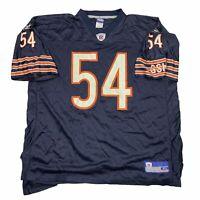 Reebok Brian Urlacher Chicago Bears #54 Football Jersey Men's Sz XL Navy Blue