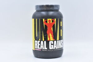 Universal Real Gains Protein Powder, Strawberry Flavor, 3.8lb, EXP: 04/2022