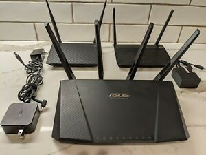 Asus AC2400 RT-AC87U Dual-band Wireless Gigabit Router PLUS 2 BONUS WIFI ROUTER