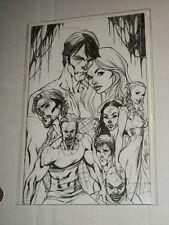 IDW TRUE BLOOD #1 J Scott Campbell Sketch RI Variant NM/NM+