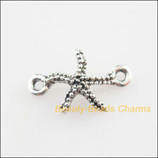 20Pcs Tibetan Silver Tone Animal Starfish Charms Connectors 11x16.5mm
