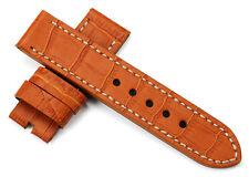 24mm Echtes Leder Uhrenarmband/Armband Watch Band Strap Für PANERAI Mens