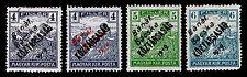 1919 HUNGARY #10N25-28 BANAT BACSKA TYPE A OVERPRINTS - OGH - VF - CV$54(E#9886)