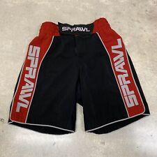 Sprawl Mma Fight Shorts Size 30 Red Black