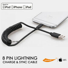 [Apple Certified] Premium Car Coiled Lightning Cable Charger 5FT For iPhone iPad