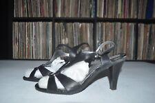 Nine West Black Sandals Heels Strap Size 8.5 M