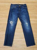 Kut From The Kloth Dark Denim Distressed Skinny Jeans Womens Size 4