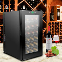 18 Bottles Wine Cooler Refrigerator Air-tight Seal Quiet Temperature Control