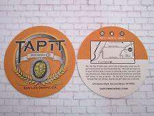 Beer Coaster ~ TAP IT Brewing Company ~ San Luis Obispo, CALIFORNIA Brewery Hops