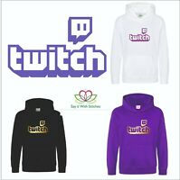 TWITCH Hoodies T-shirt Gaming Stream Live Streaming Service Viral Kids Adults