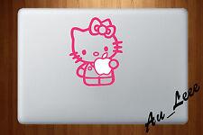 Macbook Air Pro Vinyl Skin Sticker Decal - Hello Kitty Cute Pink #MAC074